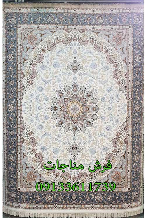 فرش ماشینی 700 شانه طرح اصفهان کرم