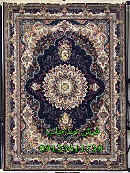 قیمت فرش ماشینی 12 متری طرح آریا مشکی