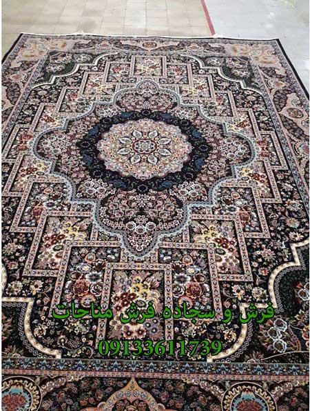 قیمت فرش ماشینی 12 متری مهرنوش سرمه ای