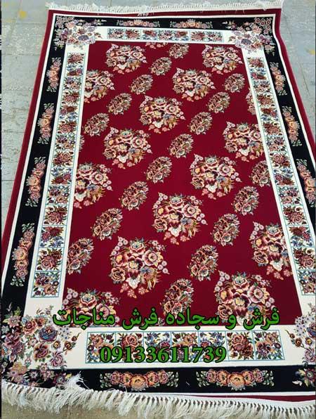 فرش ماشینی 1000 شانه طرح رز روناسی