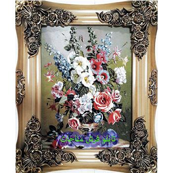 فروش تابلو فرش گل و گلدان کد 109