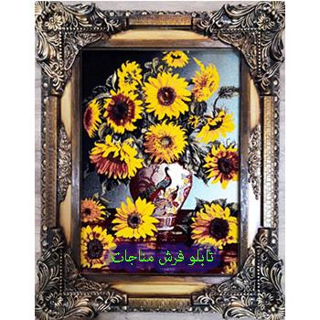 فروش تابلو فرش گل و گلدان کد 111