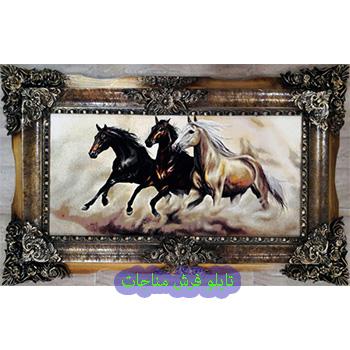 تابلو فرش اسب و حیوان کد 115