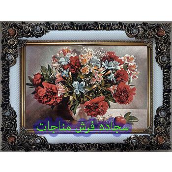 فروش تابلو فرش گل و گلدان کد 71
