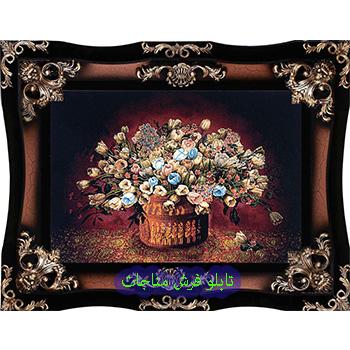فروش تابلو فرش ارزان گل و گلدان کد 76