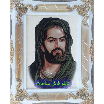 تابلو فرش ماشینی طرح حضرت عباس کد 144
