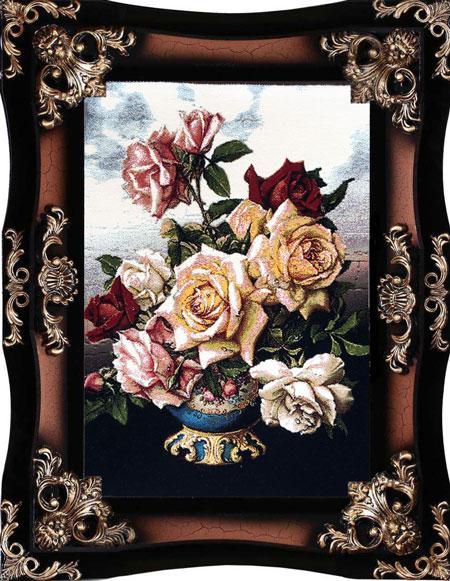 تابلو فرش طرح گل رز