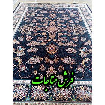 قیمت فرش ماشینی 1000 شانه 9 متری قاب بهشت سرمه ای